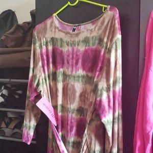 Gitionline Tie Dye hi-lo Dress